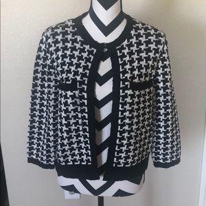 New black & white from closure cardigan.